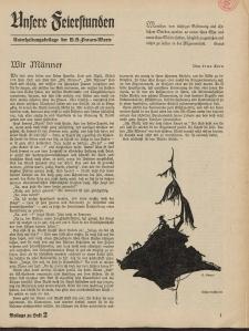 N.S. Frauen-Warte : Zeitschrift der N. S. Frauenschaft (Unsere Feierstunden- Beilage zu Heft 2)