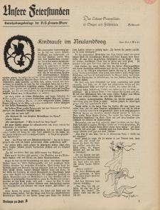 N.S. Frauen-Warte : Zeitschrift der N. S. Frauenschaft (Unsere Feierstunden- Beilage zu Heft 3)