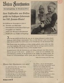 N.S. Frauen-Warte : Zeitschrift der N. S. Frauenschaft (Unsere Feierstunden- Beilage zu Heft 5)