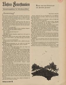 N.S. Frauen-Warte : Zeitschrift der N. S. Frauenschaft (Unsere Feierstunden- Beilage zu Heft 6)