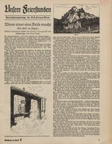 N.S. Frauen-Warte : Zeitschrift der N. S. Frauenschaft (Unsere Feierstunden- Beilage zu Heft 7)
