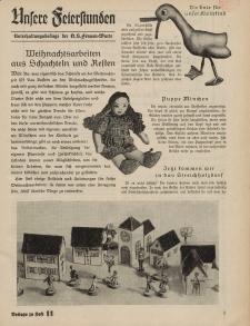 N.S. Frauen-Warte : Zeitschrift der N. S. Frauenschaft (Unsere Feierstunden- Beilage zu Heft 11)