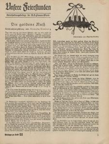 N.S. Frauen-Warte : Zeitschrift der N. S. Frauenschaft (Unsere Feierstunden- Beilage zu Heft 12)
