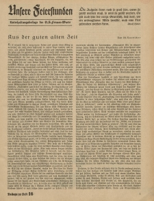 N.S. Frauen-Warte : Zeitschrift der N. S. Frauenschaft (Unsere Feierstunden- Beilage zu Heft 16)