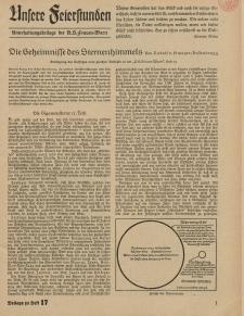 N.S. Frauen-Warte : Zeitschrift der N. S. Frauenschaft (Unsere Feierstunden- Beilage zu Heft 17)