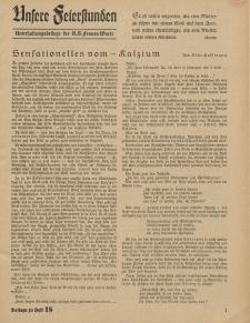 N.S. Frauen-Warte : Zeitschrift der N. S. Frauenschaft (Unsere Feierstunden- Beilage zu Heft 18)