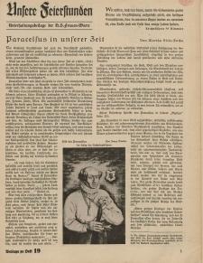 N.S. Frauen-Warte : Zeitschrift der N. S. Frauenschaft (Unsere Feierstunden- Beilage zu Heft 19)