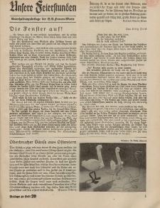 N.S. Frauen-Warte : Zeitschrift der N. S. Frauenschaft (Unsere Feierstunden- Beilage zu Heft 20)