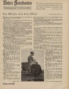 N.S. Frauen-Warte : Zeitschrift der N. S. Frauenschaft (Unsere Feierstunden- Beilage zu Heft 23)