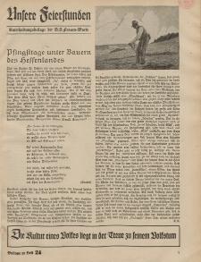 N.S. Frauen-Warte : Zeitschrift der N. S. Frauenschaft (Unsere Feierstunden- Beilage zu Heft 24)