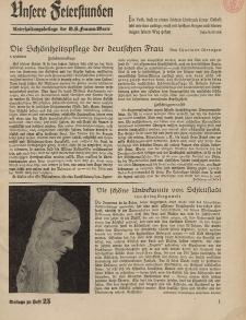 N.S. Frauen-Warte : Zeitschrift der N. S. Frauenschaft (Unsere Feierstunden- Beilage zu Heft 25)
