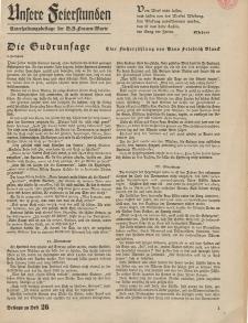 N.S. Frauen-Warte : Zeitschrift der N. S. Frauenschaft (Unsere Feierstunden- Beilage zu Heft 26)