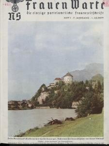 N.S. Frauen-Warte : Zeitschrift der N. S. Frauenschaft, 7.Jahrgang 1938, 1. Juli, H. 1