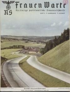 N.S. Frauen-Warte : Zeitschrift der N. S. Frauenschaft, 7.Jahrgang 1938, 2. Juli, H. 2