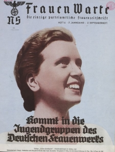 N.S. Frauen-Warte : Zeitschrift der N. S. Frauenschaft, 7.Jahrgang 1938, 2. September, H. 6