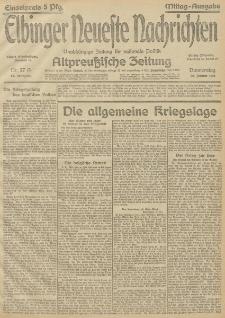 Elbinger Neueste Nachrichten, Nr. 27 Donnerstag 28 Januar 1915 67. Jahrgang