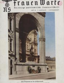 N.S. Frauen-Warte : Zeitschrift der N. S. Frauenschaft, 7.Jahrgang 1938, 1. November, H. 10
