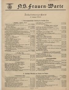 N.S. Frauen-Warte : Zeitschrift der N. S. Frauenschaft (Inhaltsverzeichnis, 8. Jg. 1939/40)