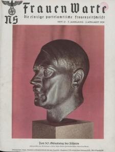 N.S. Frauen-Warte : Zeitschrift der N. S. Frauenschaft, 7.Jahrgang, 2. April 1939, H. 21