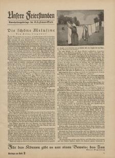 N.S. Frauen-Warte : Zeitschrift der N. S. Frauenschaft (Ansere Feierstunden : Beilage zu Heft 3)