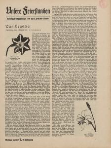N.S. Frauen-Warte : Zeitschrift der N. S. Frauenschaft (Ansere Feierstunden : Beilage zu Heft 7)