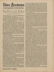 N.S. Frauen-Warte : Zeitschrift der N. S. Frauenschaft (Ansere Feierstunden : Beilage zu Heft 8)
