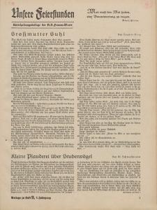 N.S. Frauen-Warte : Zeitschrift der N. S. Frauenschaft (Ansere Feierstunden : Beilage zu Heft 9)