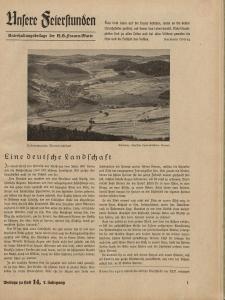 N.S. Frauen-Warte : Zeitschrift der N. S. Frauenschaft (Ansere Feierstunden : Beilage zu Heft 14)