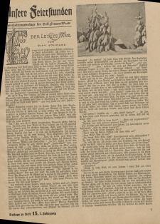 N.S. Frauen-Warte : Zeitschrift der N. S. Frauenschaft (Ansere Feierstunden : Beilage zu Heft 15)