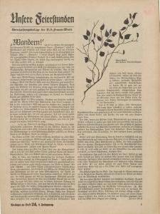 N.S. Frauen-Warte : Zeitschrift der N. S. Frauenschaft (Ansere Feierstunden : Beilage zu Heft 24)