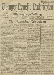 Elbinger Neueste Nachrichten, Nr. 34 Donnerstag 04 Februar 1915 67. Jahrgang