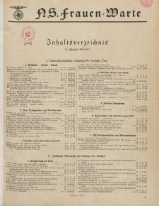 N.S. Frauen-Warte : Zeitschrift der N. S. Frauenschaft (Inhaltsverzeichnis, 9. Jg. 1940/41)