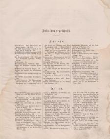 Globus. Illustrierte Zeitschrift für Länder...(Inhaltsverzeichniß), Bd. XXII, 1872