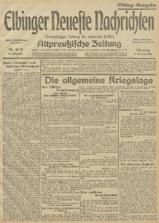 Elbinger Neueste Nachrichten, Nr.39 Dienstag 09 Februar 1915 67. Jahrgang