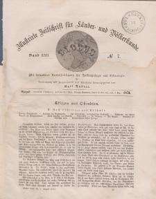 Globus. Illustrierte Zeitschrift für Länder...Bd. XXII, Nr.7, August 1872