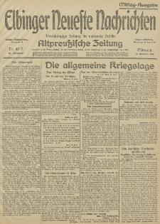 Elbinger Neueste Nachrichten, Nr.40 Mittwoch 10 Februar 1915 67. Jahrgang
