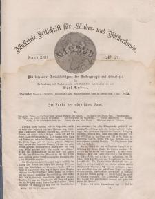 Globus. Illustrierte Zeitschrift für Länder...Bd. XXII, Nr.21, Dezember 1872