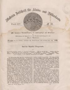 Globus. Illustrierte Zeitschrift für Länder...Bd. XXII, Nr.22, Dezember 1872