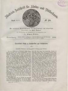 Globus. Illustrierte Zeitschrift für Länder...Bd. XLVI, Nr.20, 1884