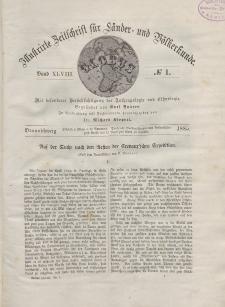 Globus. Illustrierte Zeitschrift für Länder...Bd. XLVIII, Nr.1, 1885