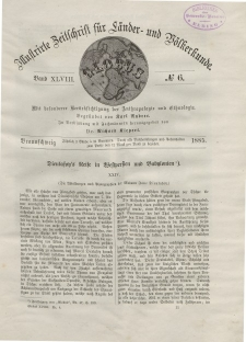 Globus. Illustrierte Zeitschrift für Länder...Bd. XLVIII, Nr.6, 1885
