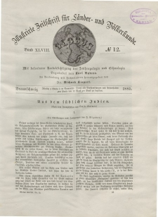 Globus. Illustrierte Zeitschrift für Länder...Bd. XLVIII, Nr.12, 1885