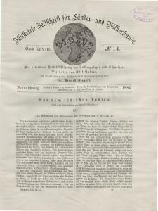 Globus. Illustrierte Zeitschrift für Länder...Bd. XLVIII, Nr.14, 1885