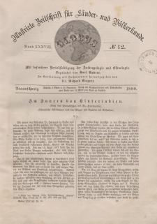 Globus. Illustrierte Zeitschrift für Länder...Bd. XXXVIII, Nr.12, 1880