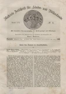 Globus. Illustrierte Zeitschrift für Länder...Bd. XVI, Nr.4, September, 1869