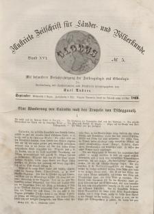 Globus. Illustrierte Zeitschrift für Länder...Bd. XVI, Nr.5, September, 1869