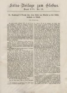 Globus. Illustrierte Zeitschrift für Länder...(Extra Beilage) Bd. XVI, Nr.18, Dezember, 1869