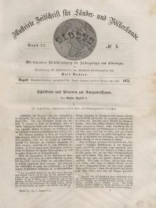 Globus. Illustrierte Zeitschrift für Länder...Bd. XX, Nr.5, 1871