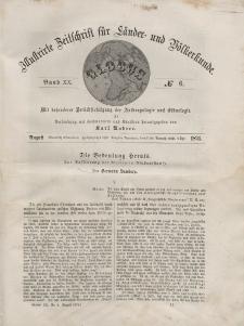 Globus. Illustrierte Zeitschrift für Länder...Bd. XX, Nr.6, 1871
