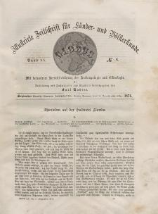 Globus. Illustrierte Zeitschrift für Länder...Bd. XX, Nr.8, 1871